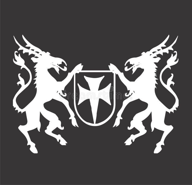 Emblem Crest design stock images