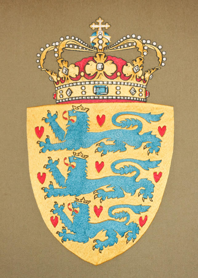 Download Emblem of Danemark stock photo. Image of arms, banner - 21599864