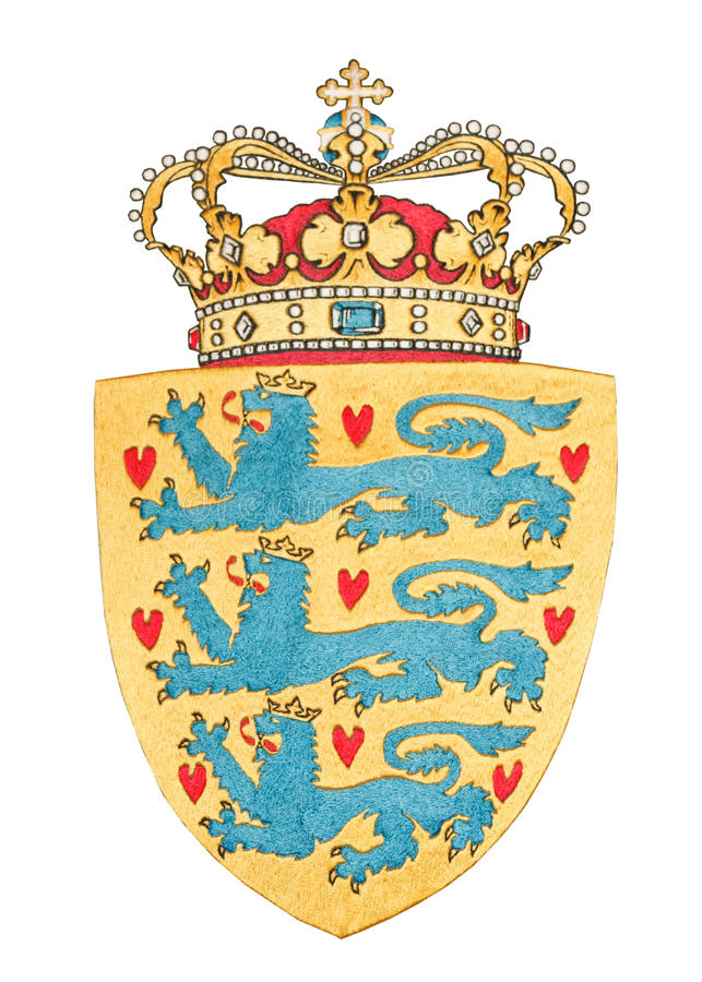 Download Emblem Of Danemark Isolated On White Stock Image - Image: 21669515