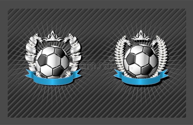 Emblem des Fußballs (Fußball) lizenzfreie abbildung
