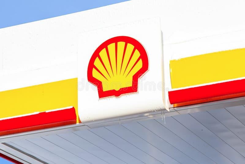 Emblem des Royal Dutch Shell-Ölkonzerns lizenzfreie stockfotografie