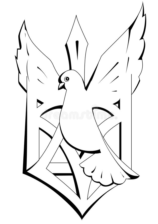 Emblem of dove stock images