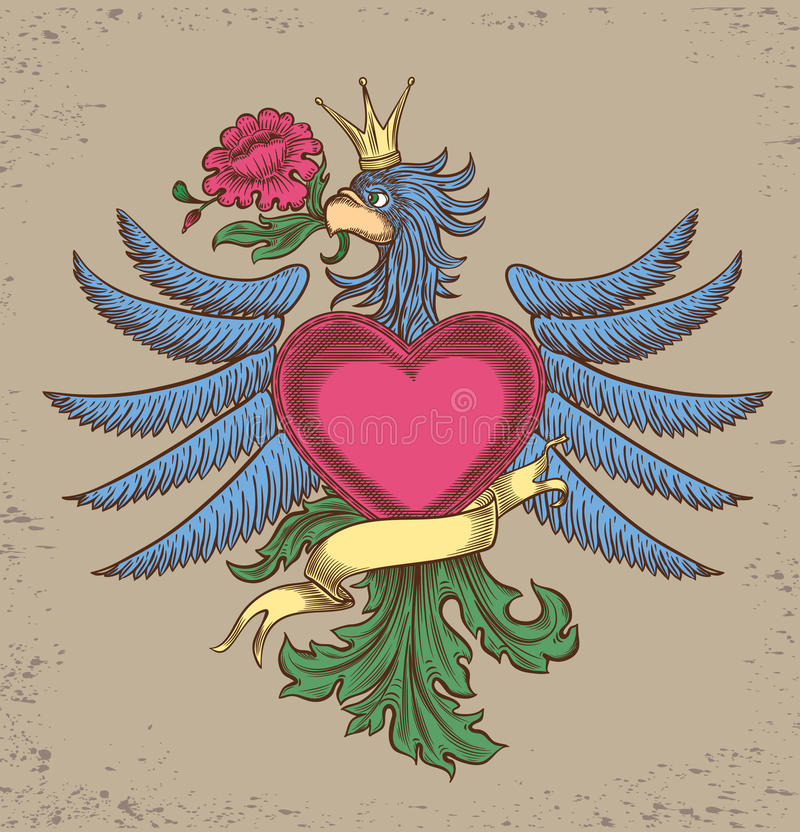 Emblem with an eagle