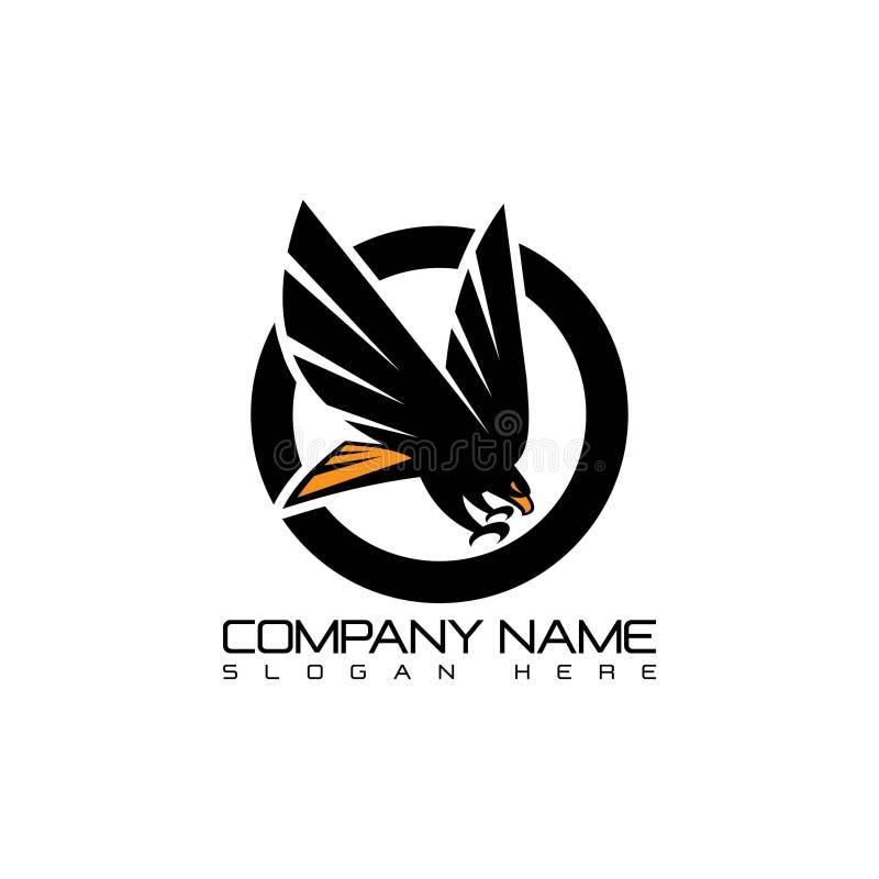 Emblem Eagle flying logo concept icon. Emblem Logo abstract design vector template. Flying Eagle logo concept icon vector illustration