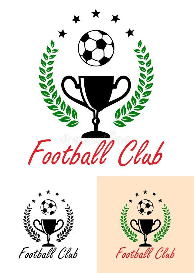 Emblem eller symbol för fotbollklubbamästerskap stock illustrationer