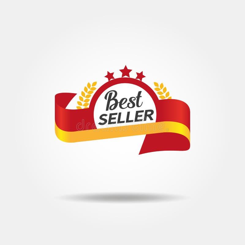 Emblem för bästa säljare stock illustrationer