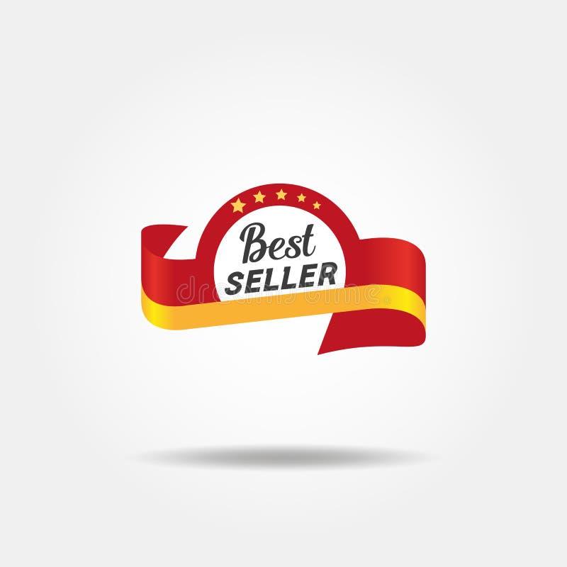 Emblem för bästa säljare vektor illustrationer