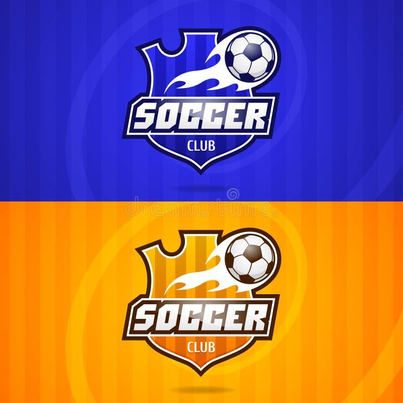 Emblem för bakgrundsfotbollklubba vektor illustrationer