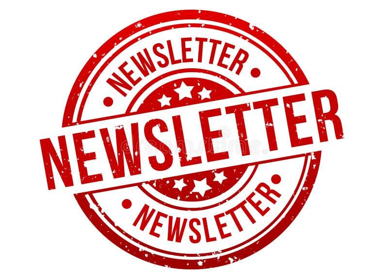 Emblem för baner för informationsbladstämpelknapp i rött Vektor Eps10 royaltyfri illustrationer