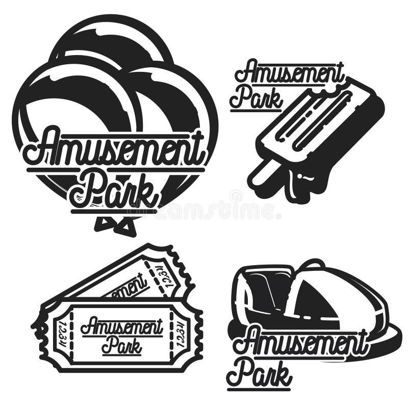Emblem för färgtappningnöjesfält royaltyfri illustrationer