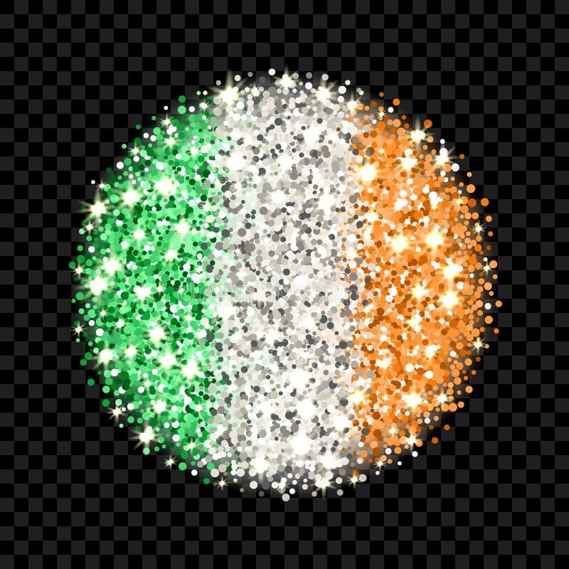 Emblem för Irland flaggabrusande stock illustrationer