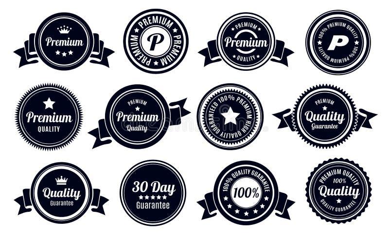 Emblem för kvalitets- garanti för tappning stock illustrationer