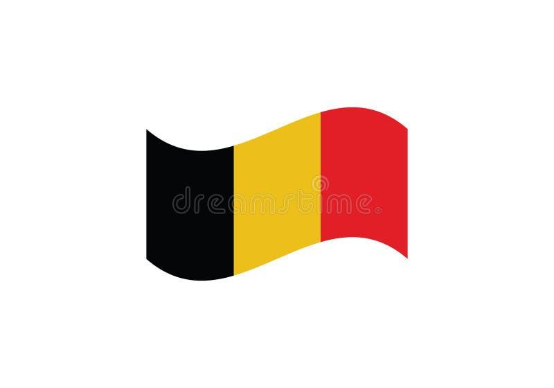 Emblem för land för nationellt symbol för vapensköld för Belgien flagga vinkande tricolor stock illustrationer