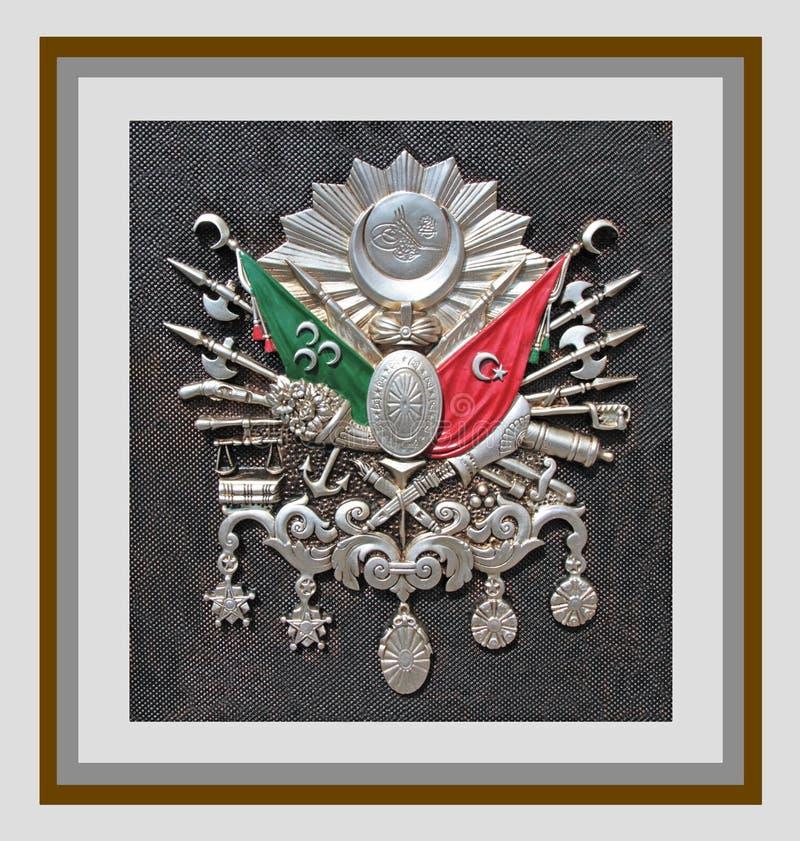 Emblem för ottomanvälde & x28; Gammalt turkiskt symbol & x29; royaltyfria foton
