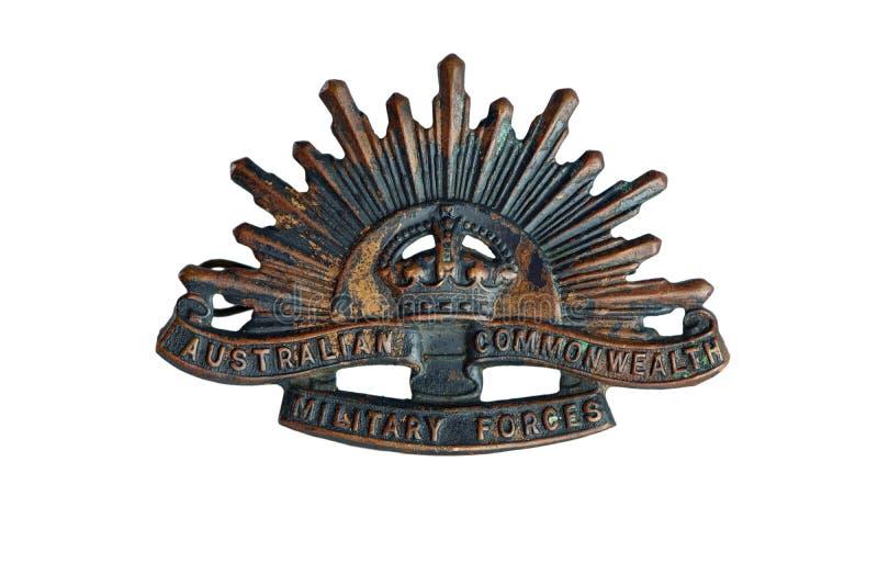 Emblem för resningsol royaltyfri bild