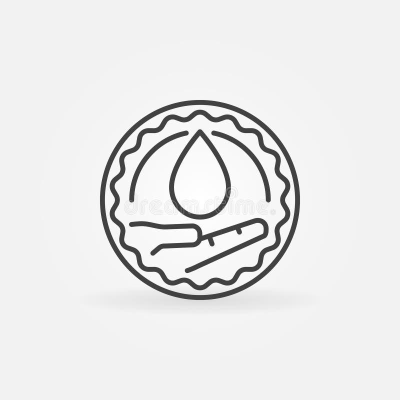 Emblem för välgörenhetbloddonation vektor illustrationer