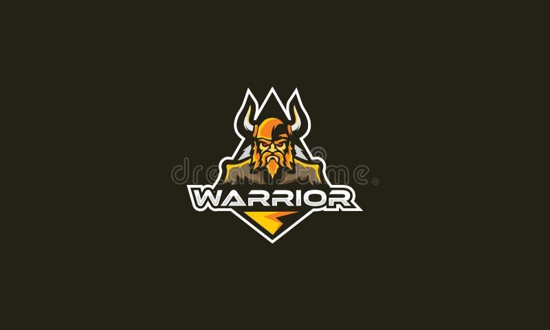 Emblem för vektor för krigarelogosymbol royaltyfri illustrationer