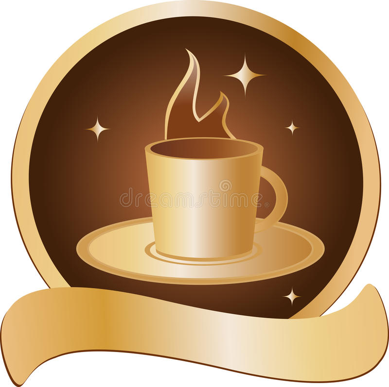 Emblem With Golden Cup Stock Image