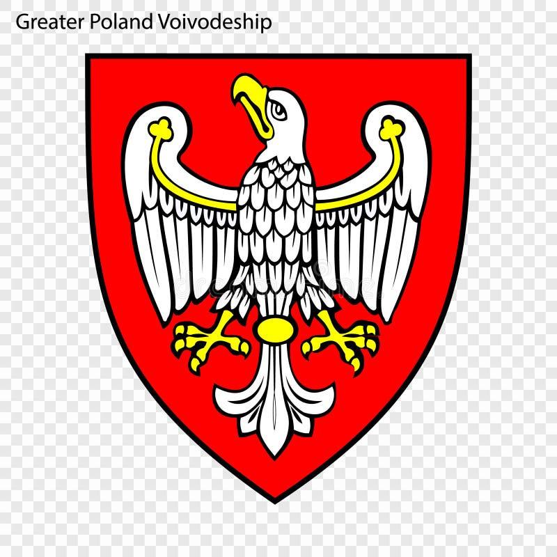 Emblem state of Poland. Emblem of Greater Poland Voivodeship, state of Poland. Vector illustration stock illustration