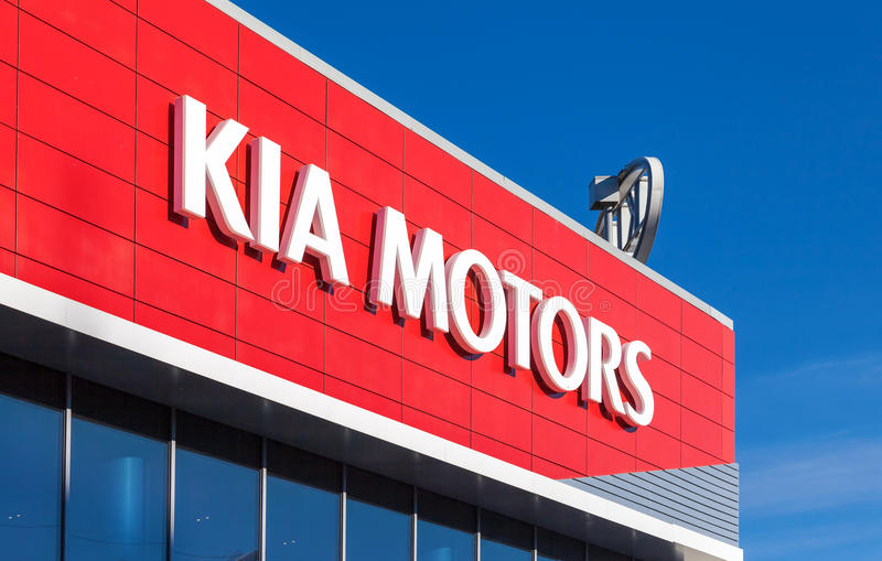 Blue Sky Motors >> The Emblem KIA Motors On Blue Sky Background Editorial
