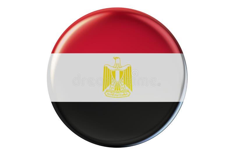 Emblem med flaggan av den Egypten 3D tolkningen vektor illustrationer