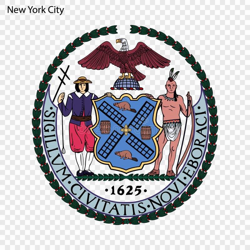 Emblem of New York stock illustration