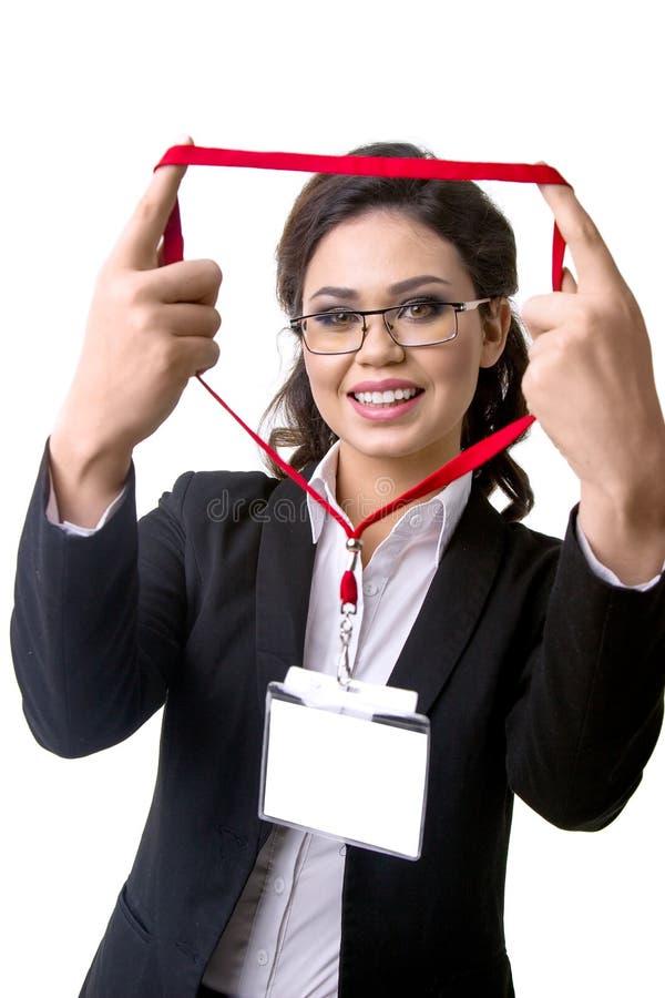 Emblem- och affärskvinna arkivfoto