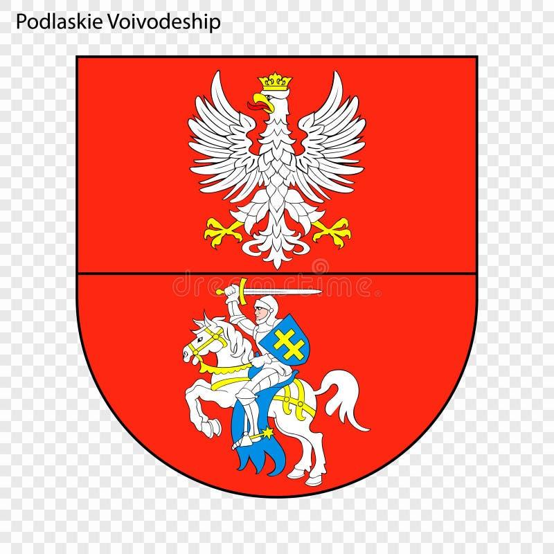 Emblem state of Poland. Emblem of Podlaskie Voivodeship, state of Poland. Vector illustration stock illustration