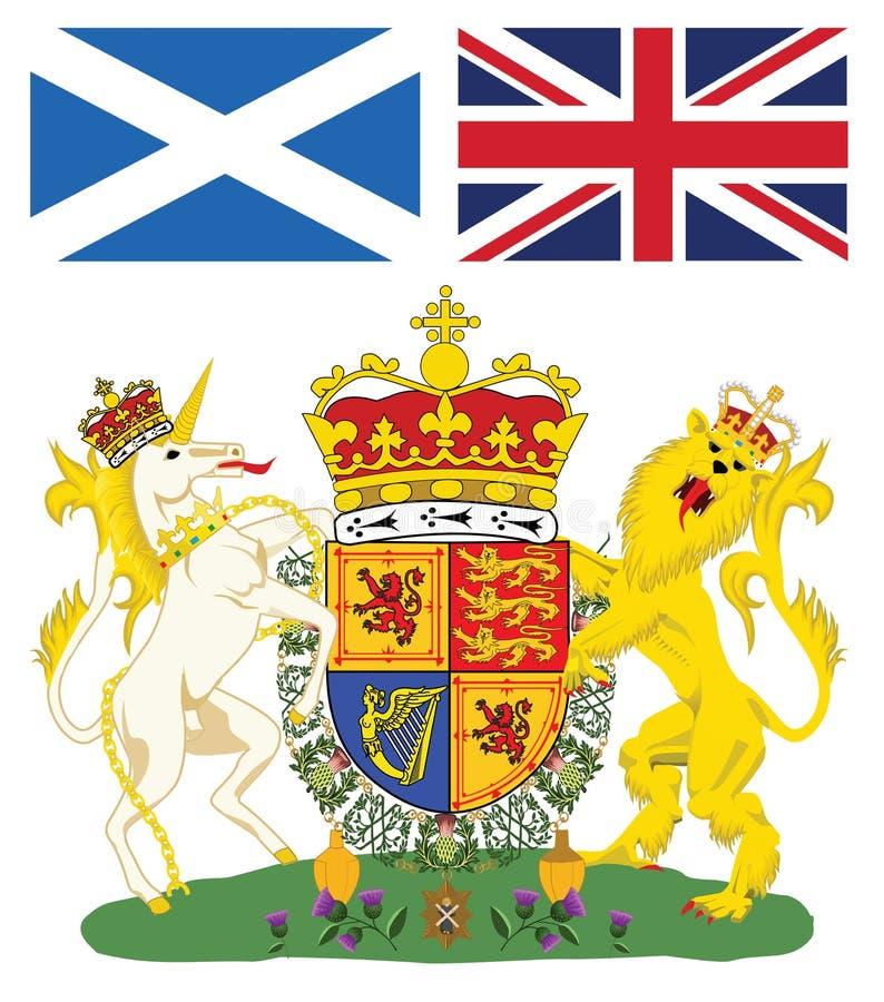 emblem scotland royaltyfri illustrationer