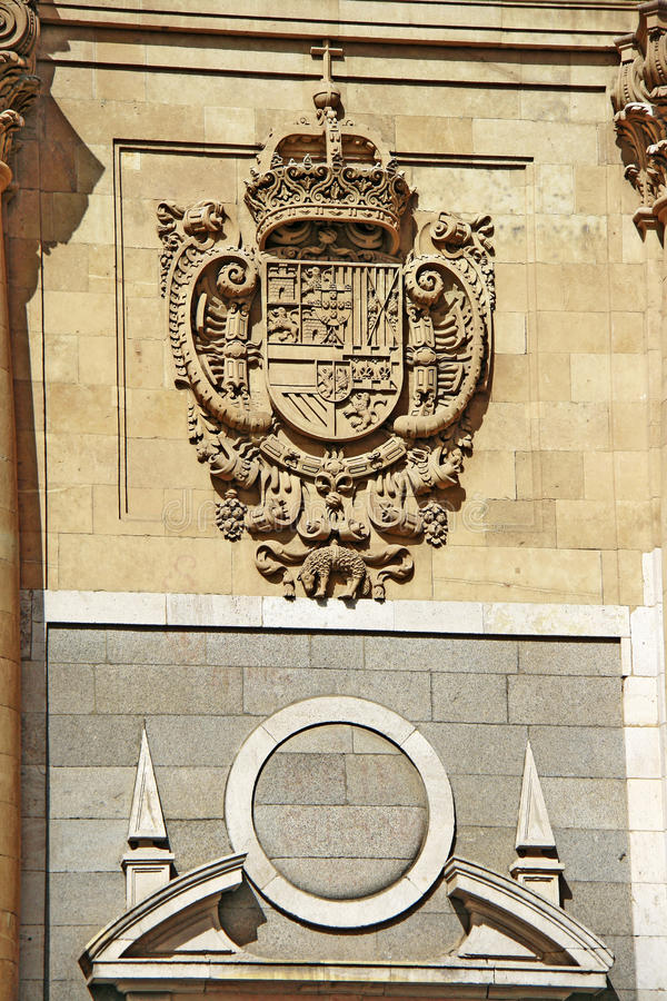 Download The Emblem Of The Spanish Royal Court Stock Image - Image: 25919769
