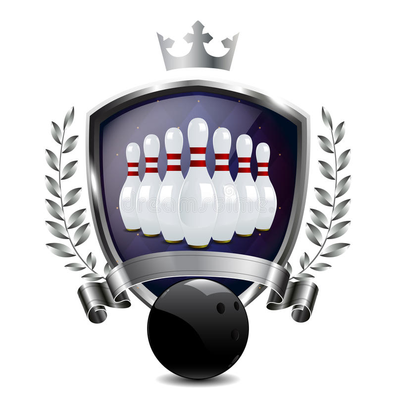 Download Emblem Of Sport Champion Bowling Stock Illustration - Image: 24092775