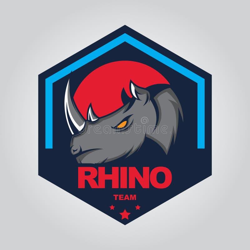 Rhino logo template design vector illustration