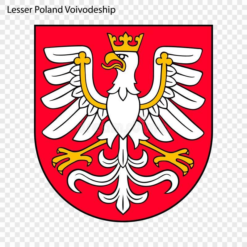 Emblem state of Poland. Emblem of Lesser Poland Voivodeship, state of Poland. Vector illustration royalty free illustration