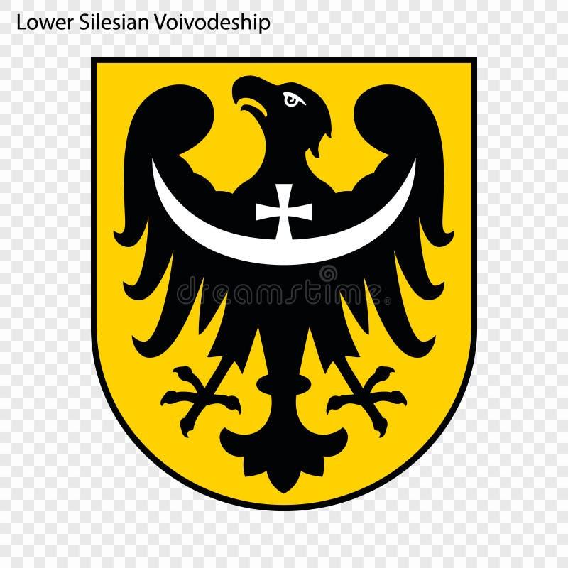 Emblem state of Poland. Emblem of Lower Silesian Voivodeship, state of Poland. Vector illustration royalty free illustration