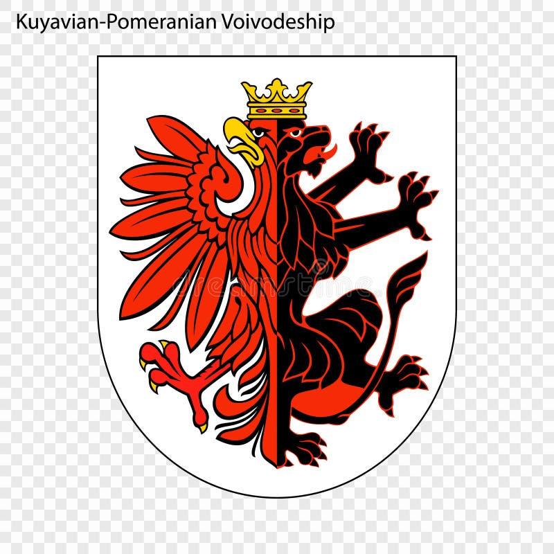 Emblem state of Poland. Emblem of Kuyavian-Pomeranian Voivodeship, state of Poland. Vector illustration vector illustration