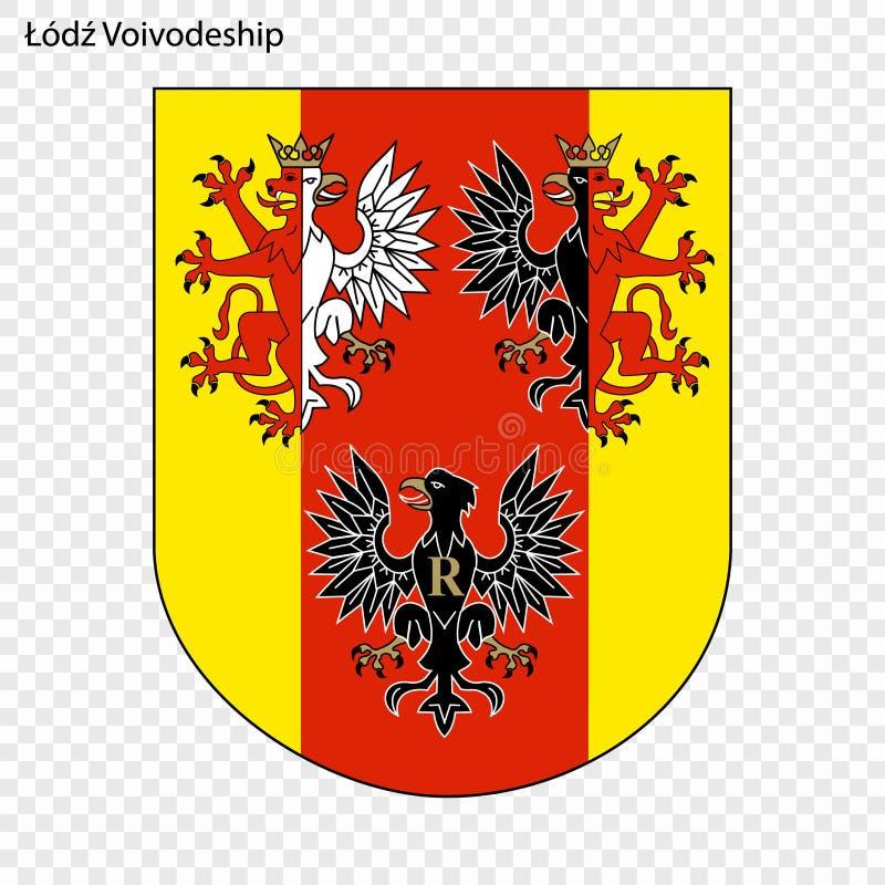 Emblem state of Poland. Emblem of Lodz Voivodeship, state of Poland. Vector illustration stock illustration