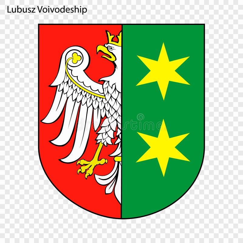 Emblem state of Poland. Emblem of Lubusz Voivodeship, state of Poland. Vector illustration stock illustration
