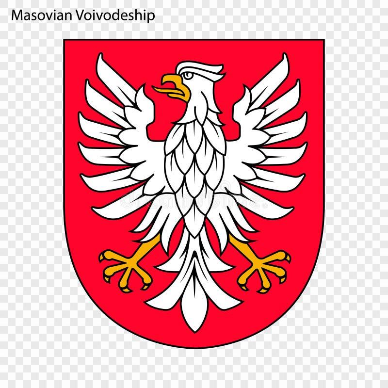 Emblem state of Poland. Emblem of Masovian Voivodeship, state of Poland. Vector illustration vector illustration