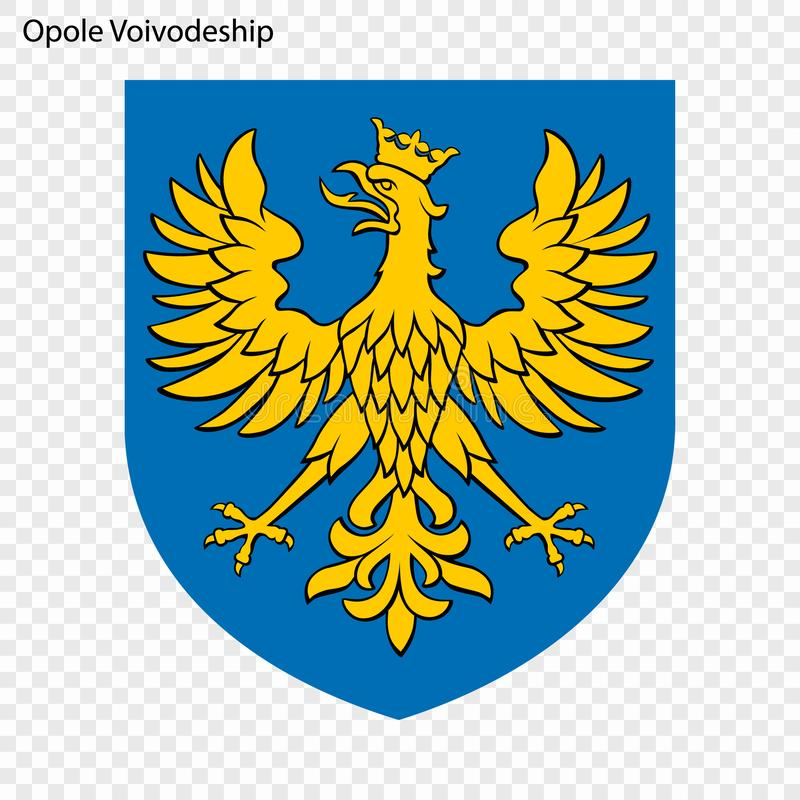 Emblem state of Poland. Emblem of Opole Voivodeship, state of Poland. Vector illustration vector illustration