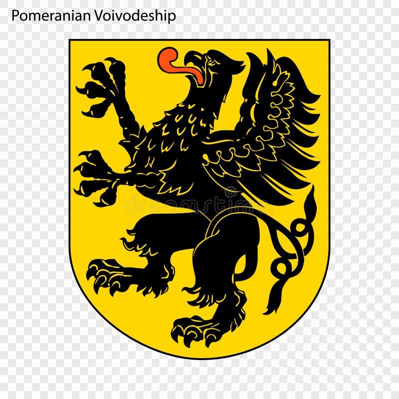 Emblem state of Poland. Emblem of Pomeranian Voivodeship, state of Poland. Vector illustration stock illustration