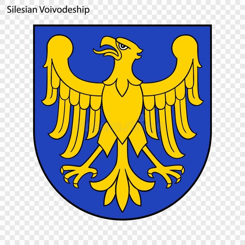 Emblem state of Poland. Emblem of Silesian Voivodeship, state of Poland. Vector illustration stock illustration