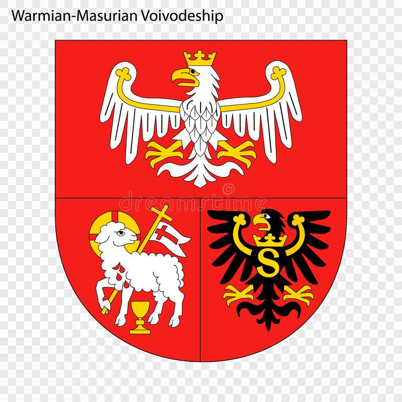 Emblem state of Poland. Emblem of Warmian-Masurian Voivodeship, state of Poland. Vector illustration stock illustration