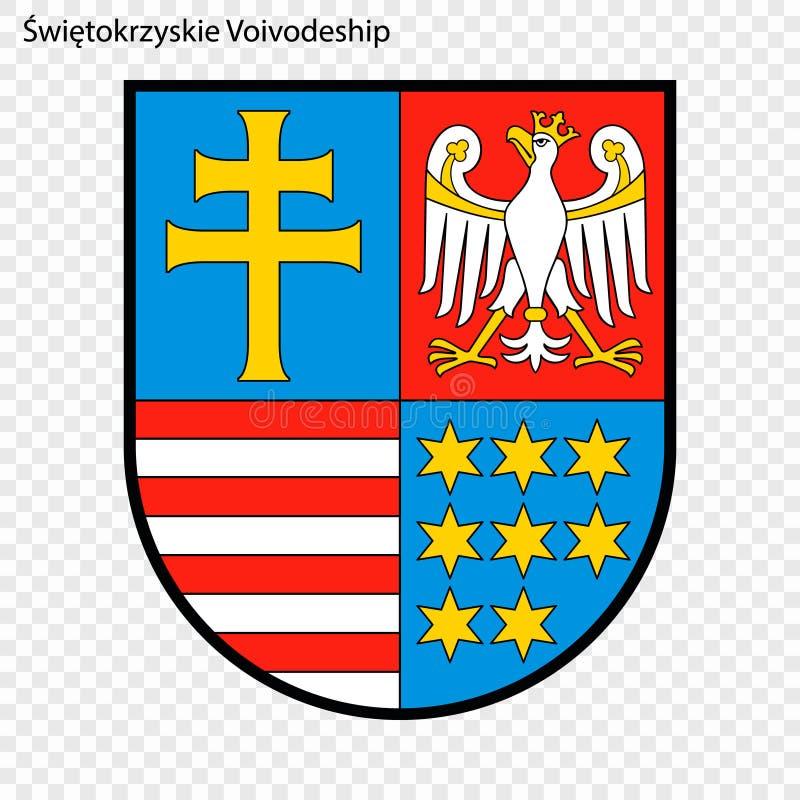 Emblem state of Poland. Emblem of Swietokrzyskie Voivodeship, state of Poland. Vector illustration royalty free illustration