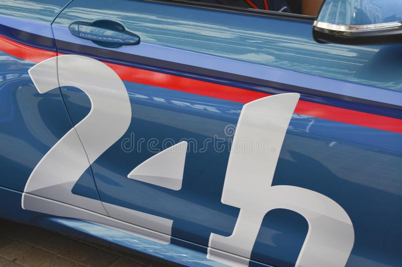 Emblem or symbol of the famous races 24 hours of Le mans. France stock photos