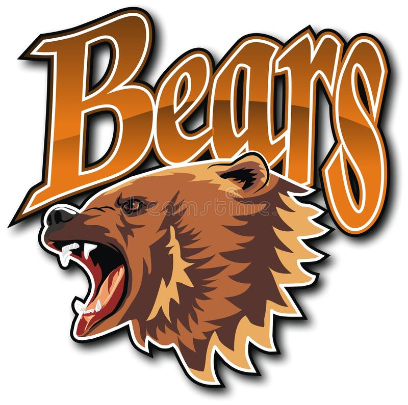Emblem of the team Bears. royalty free stock photo