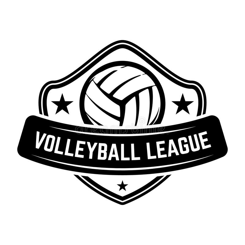 Emblem Template With Volleyball Ball Isolated On White Background ...