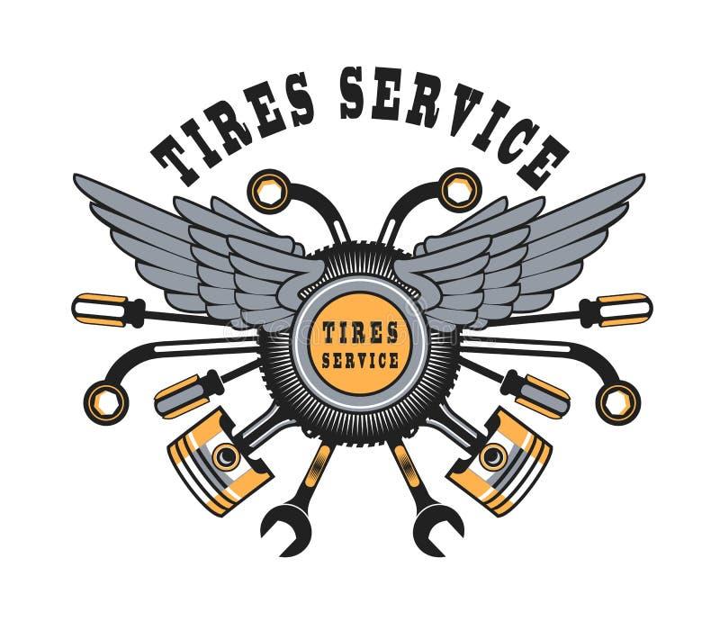 Emblem for tire royalty free illustration