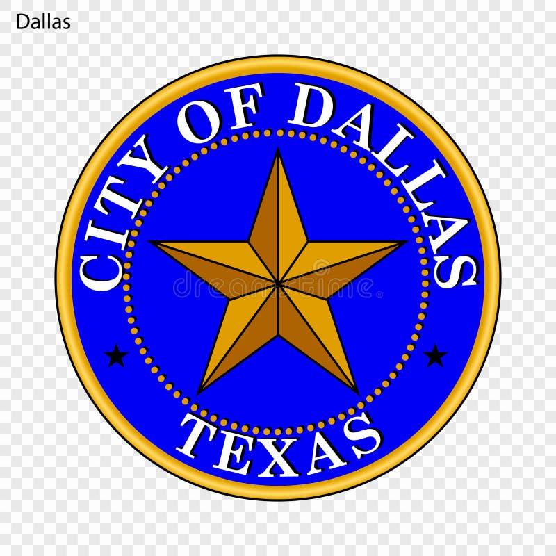 Emblem von Dallas vektor abbildung