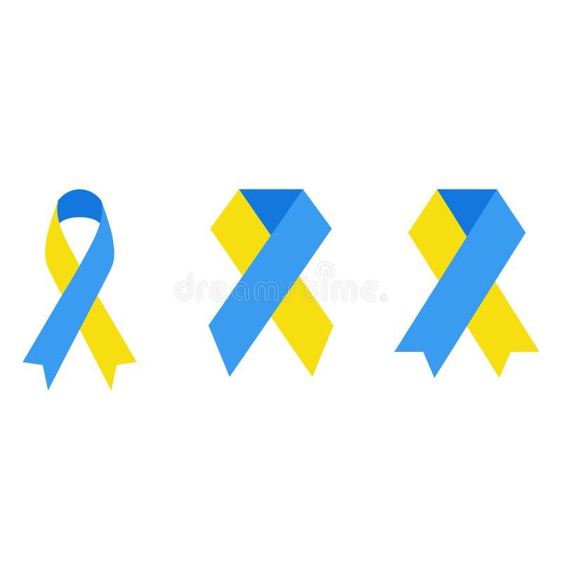 Emblem von einem Down-Syndrom gegen einen weißen Hintergrund stock abbildung