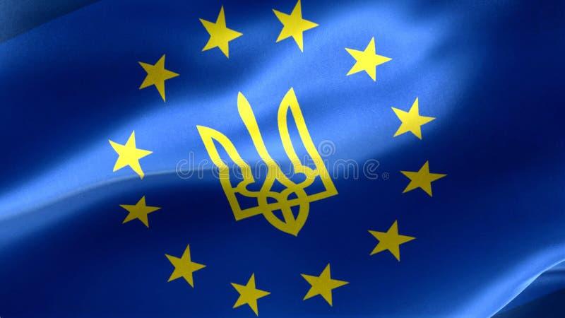 Emblem von Ukraine-` s EU-Beitritt vektor abbildung